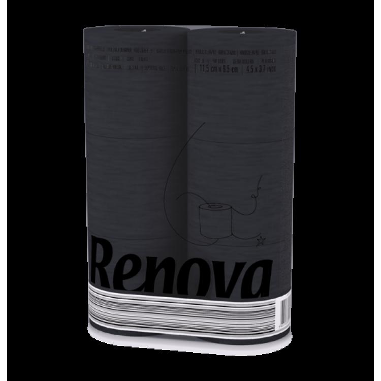 Renova Тоалетна хартия - Черна