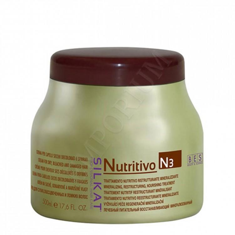 Silkat Nutritivo N3 Подхранваща маска за Суха и Увредена коса 500мл.